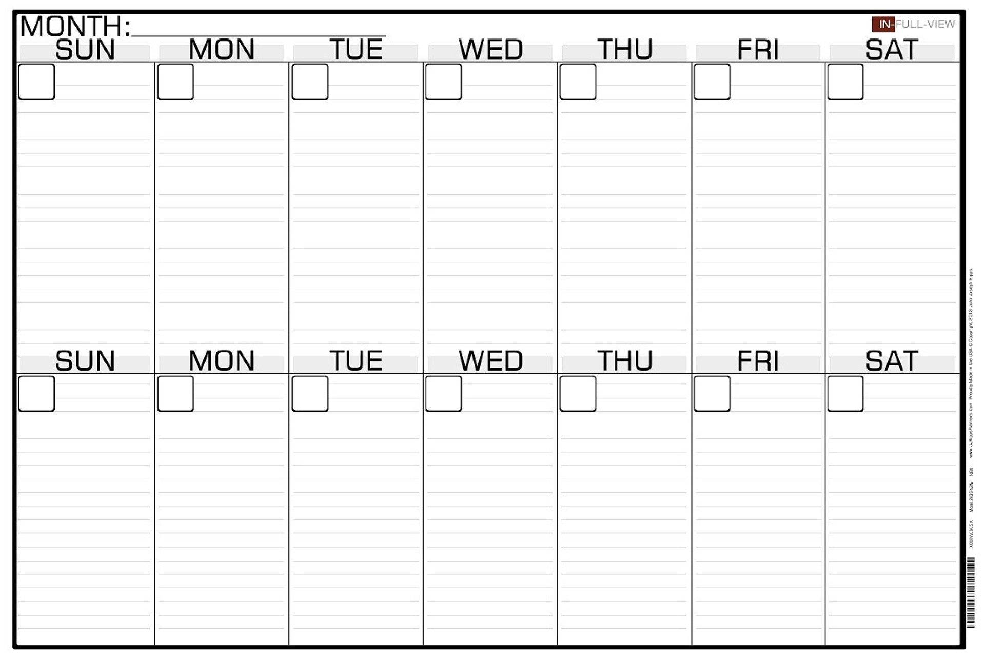 001 20Week Calendar Template Free Templates At Allbusinesstemplates pertaining to Null Blank Calendar To Print