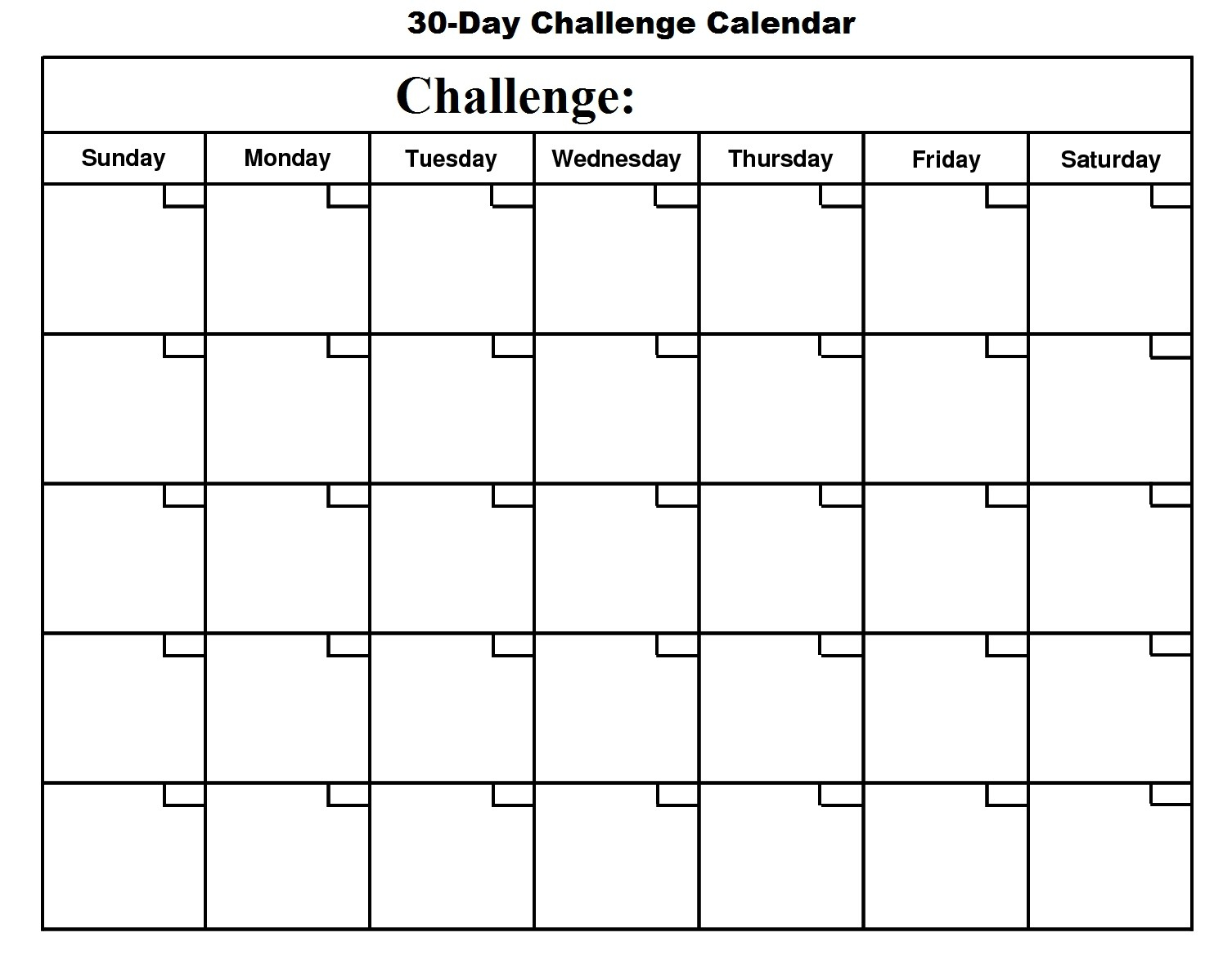 001 Printable Day Calendar Blank Template In Amazing 30 Ideas inside 60 Days Challenge Template Calender