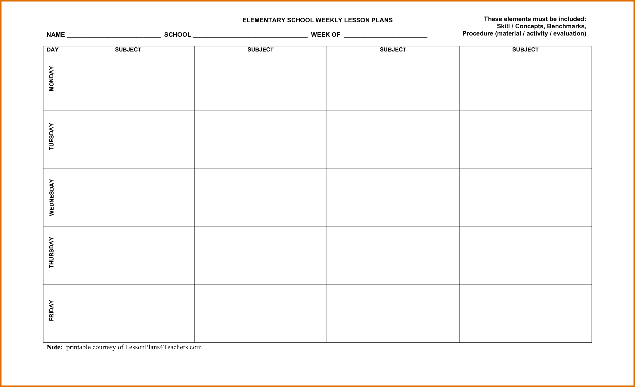 001 Weekly Lesson Plan Template Word Unit ~ Tinypetition throughout Weekly Calander Lesson Plan Template