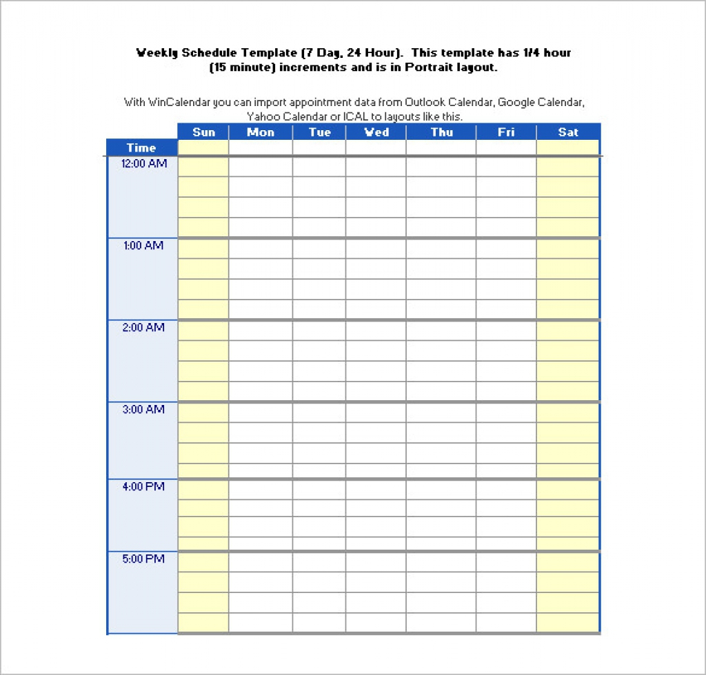 003 Hours Schedule Template Free Word Excel Pdf Format Gallery Ideas pertaining to Free 7 Day Work Schedule Template Pdf