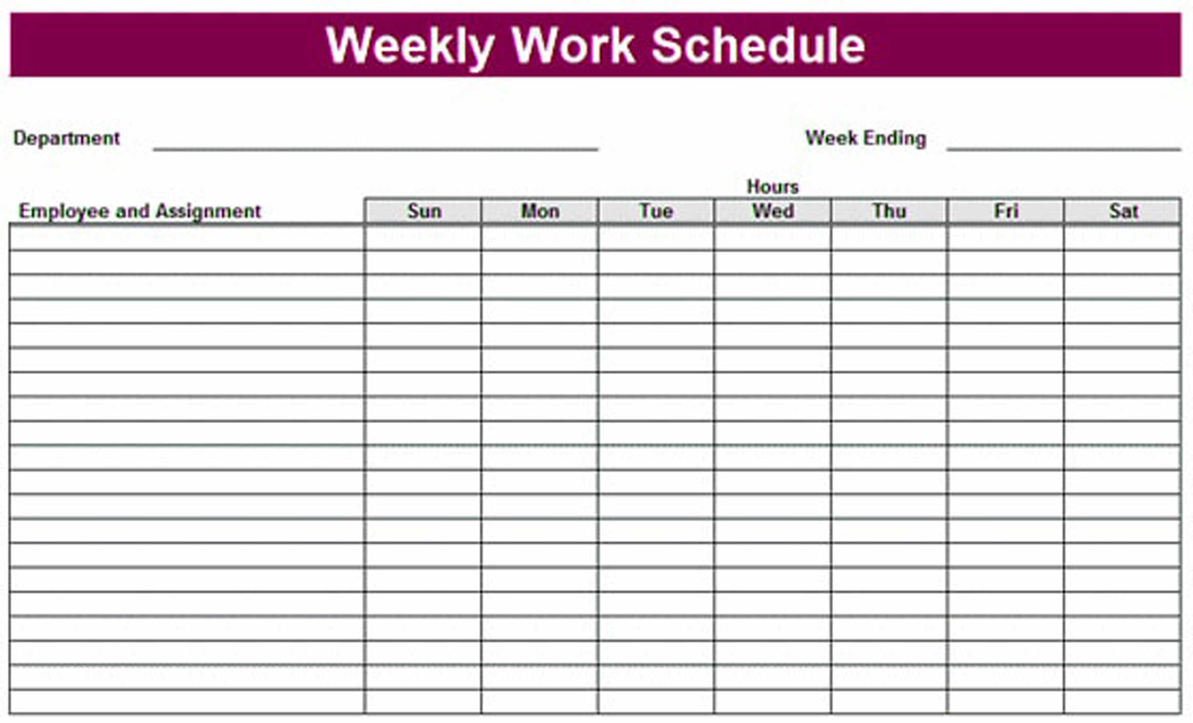 005 20Printable Weekly Schedule Template Excel Planner Task Lesson pertaining to Calendar Template For Work Week