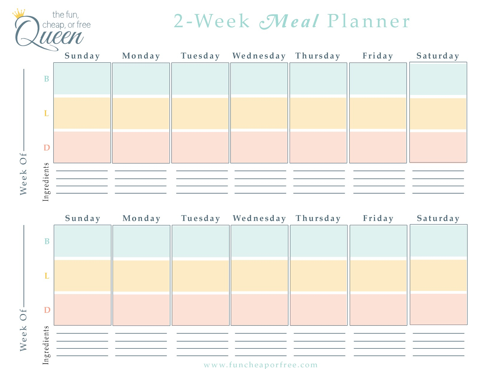005 Plan Template Wk Meal Planner ~ Tinypetition inside 2 Week Work Schedule Templates