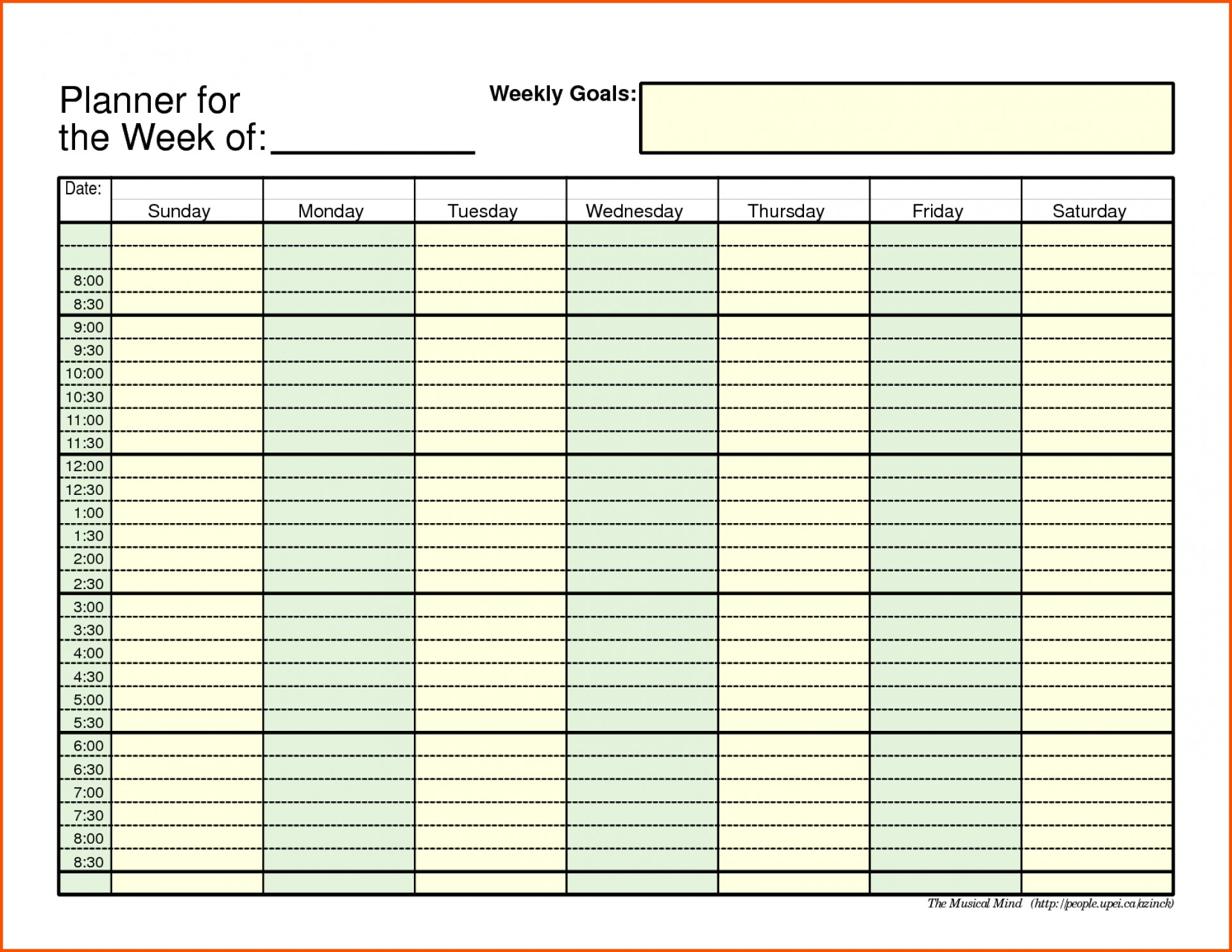 006 Weekly Schedule Template Pdf 20Weekly Schedule20Ate Ideas with Weekly Calendar With Time Slots Template