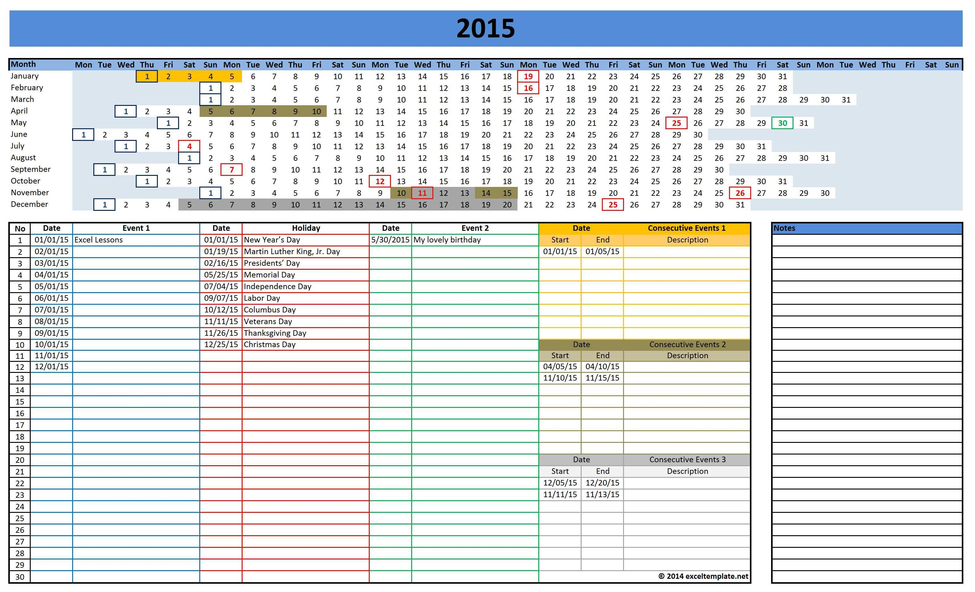 007 Template Ideas Calendar Linear Excellent 2016 Excel Monthly in Excel Template For Calendar