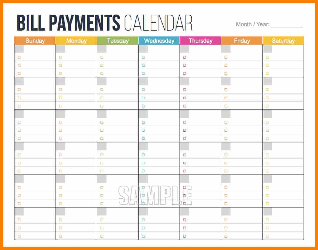 008 Template Ideas Bill Pay Schedule Calendar 2 Unusual Payment within Bill Payment Calendar Template Printable