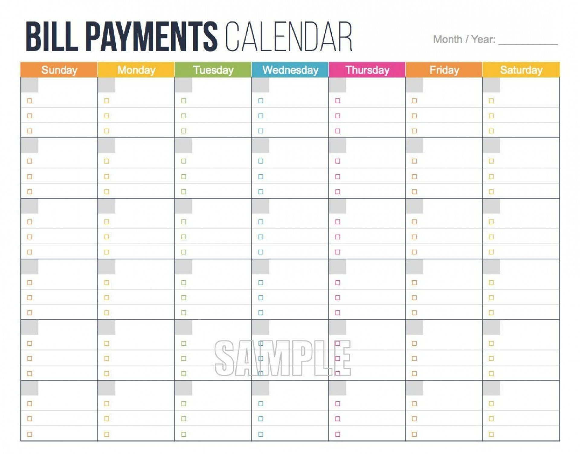 009 Bill Pay Calendar Template Ideas Paying Free Printable 2016 intended for Bill Payment Calendar Template Printable