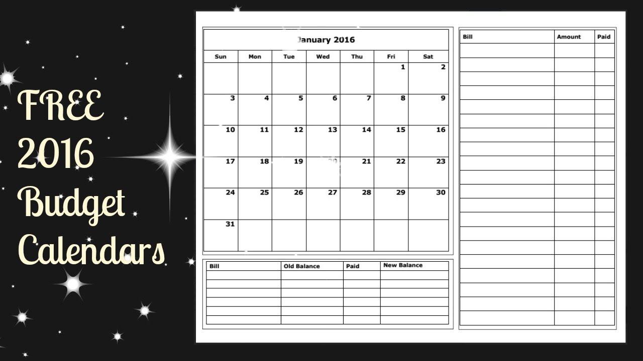 010 Monthly Budget Calendar Template Free Printable Budgeting in Printable Monthly Calendar Templates Bills