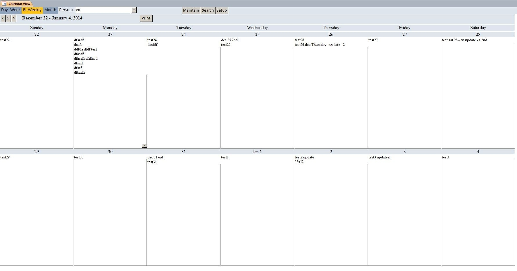 010 Template Ideas Weekly Calendar For Word Free Printable Templates pertaining to Blank Two Week Calendar Template