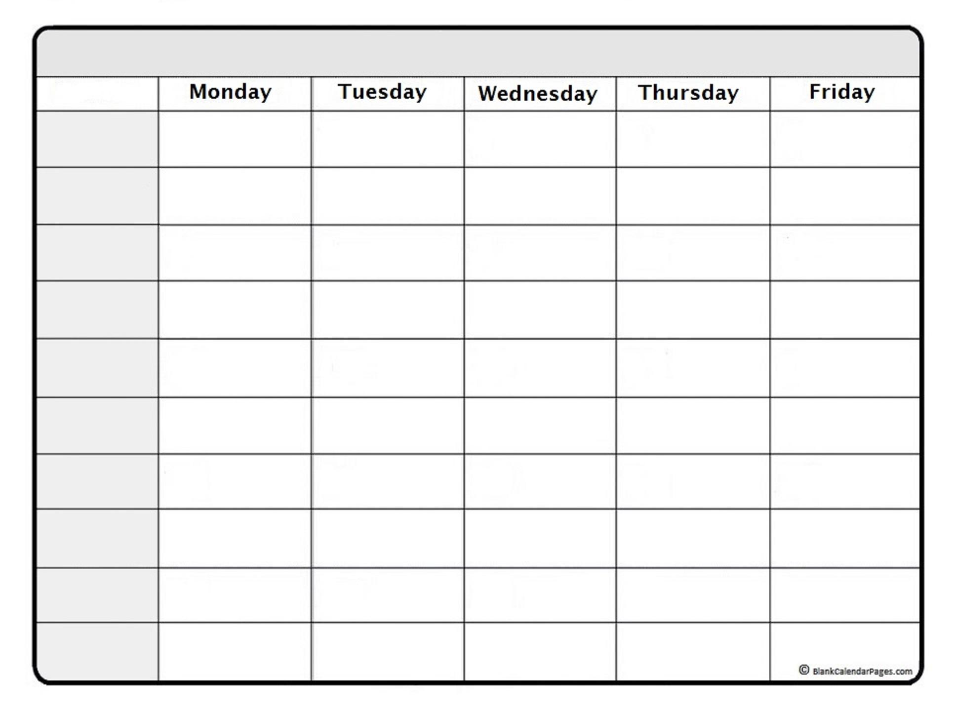 011 Template Ideas 20Schedule Blank Weekly20Ntable Week Calendar20 inside Cute Blank Day Calender Templates