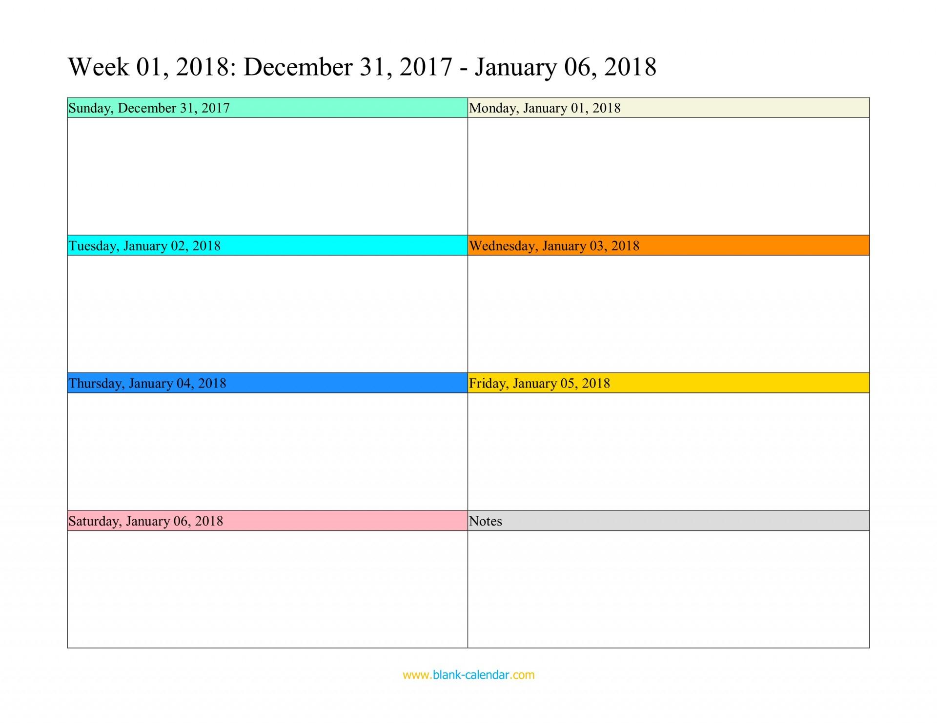 012 Printable Word Weekly Calendar Template Stunning 2018 Free with August-December Calendar Template