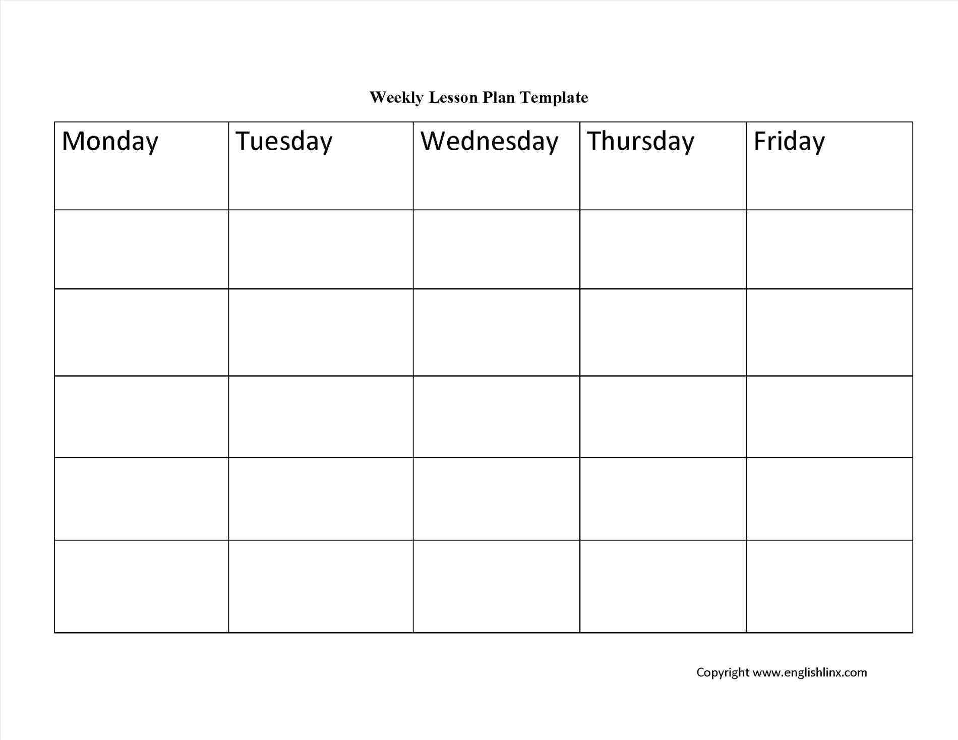 013 Free Editable Weekly Lesson Plan Template Doc Business Preschool inside Large Blank Editable Spider Plan Template