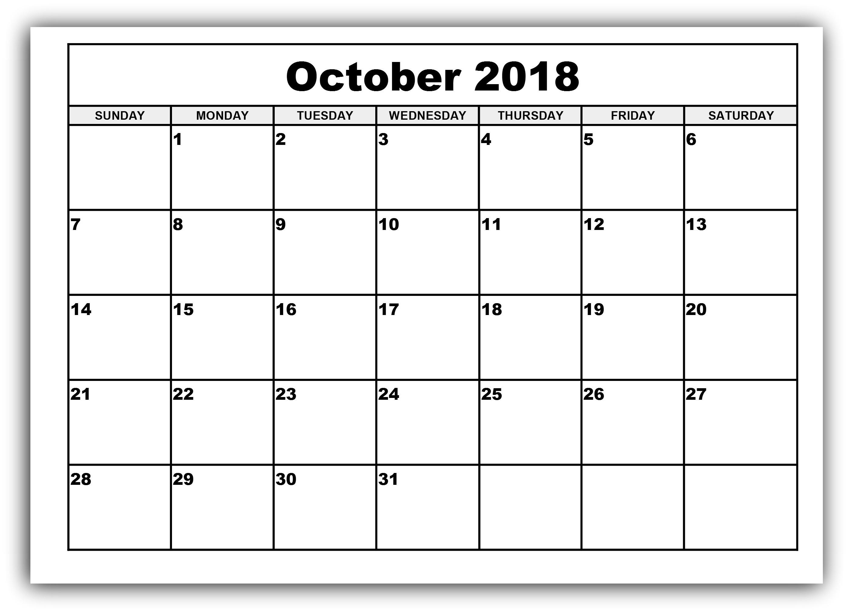 014 Get October Blank Printable Calendar Templates April Free with Monday To Sunday Calendar Template October