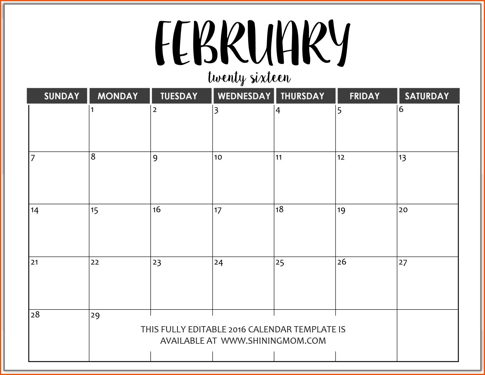 014 Microsoft Word Calendar Template Templates Fully Editable intended for 2019 2020 Ms Word Calendar