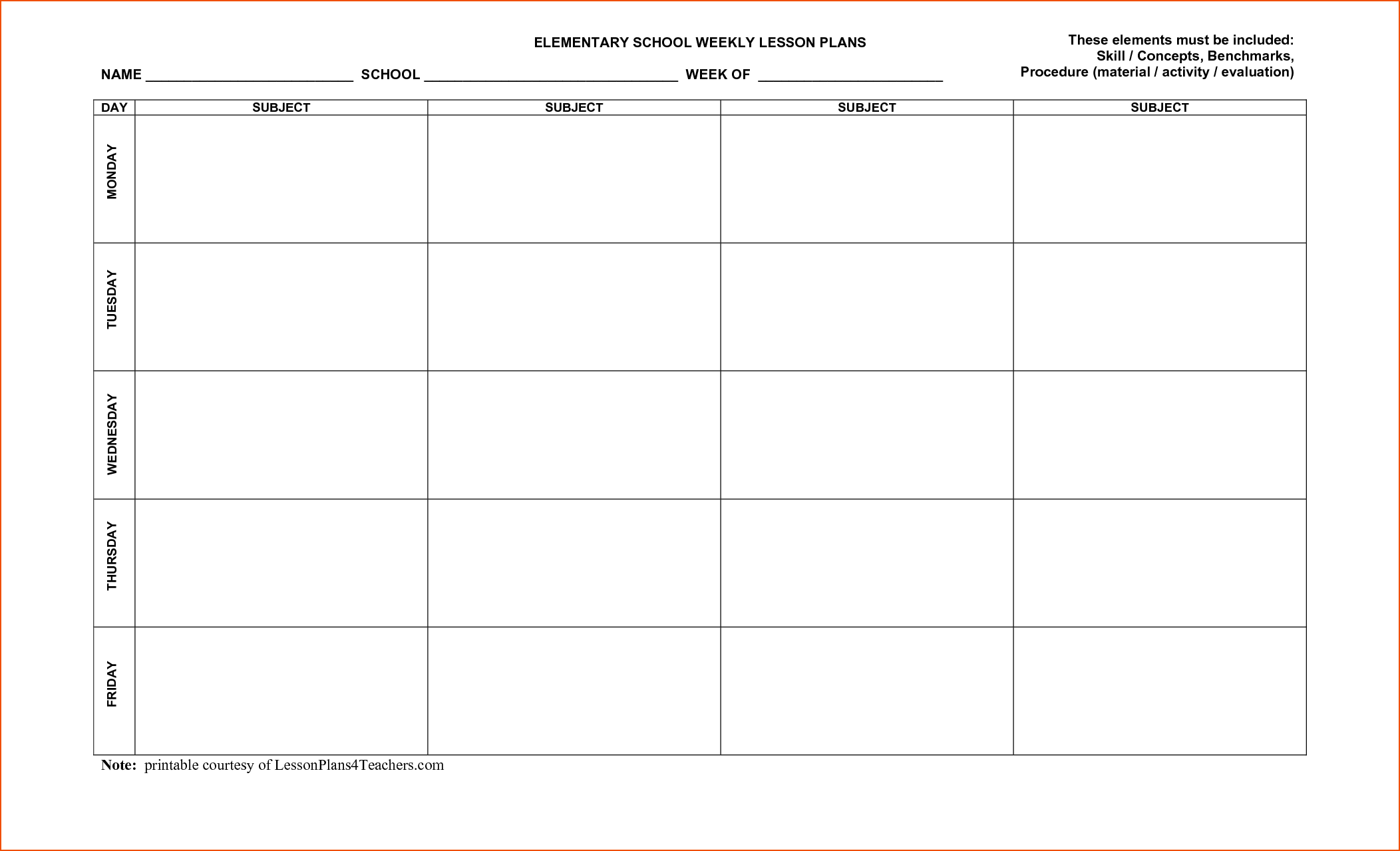 015 Free Printable Lesson Plan Template Unusual Ideas Monthly Pdf for Lesson Plan Template Printable Monthly