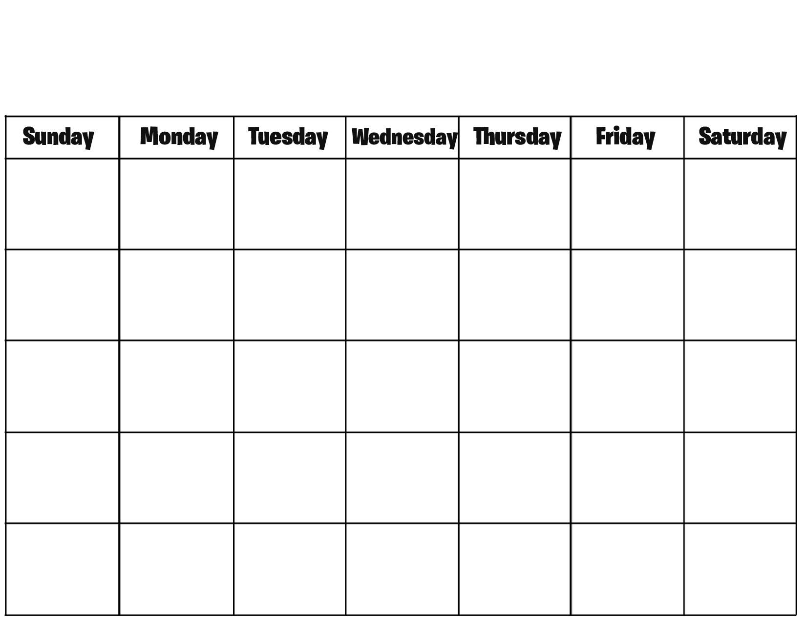 015 Template Ideas Free Printable Blank Calendar Pages Templates For pertaining to Free Printable Blank Calendars