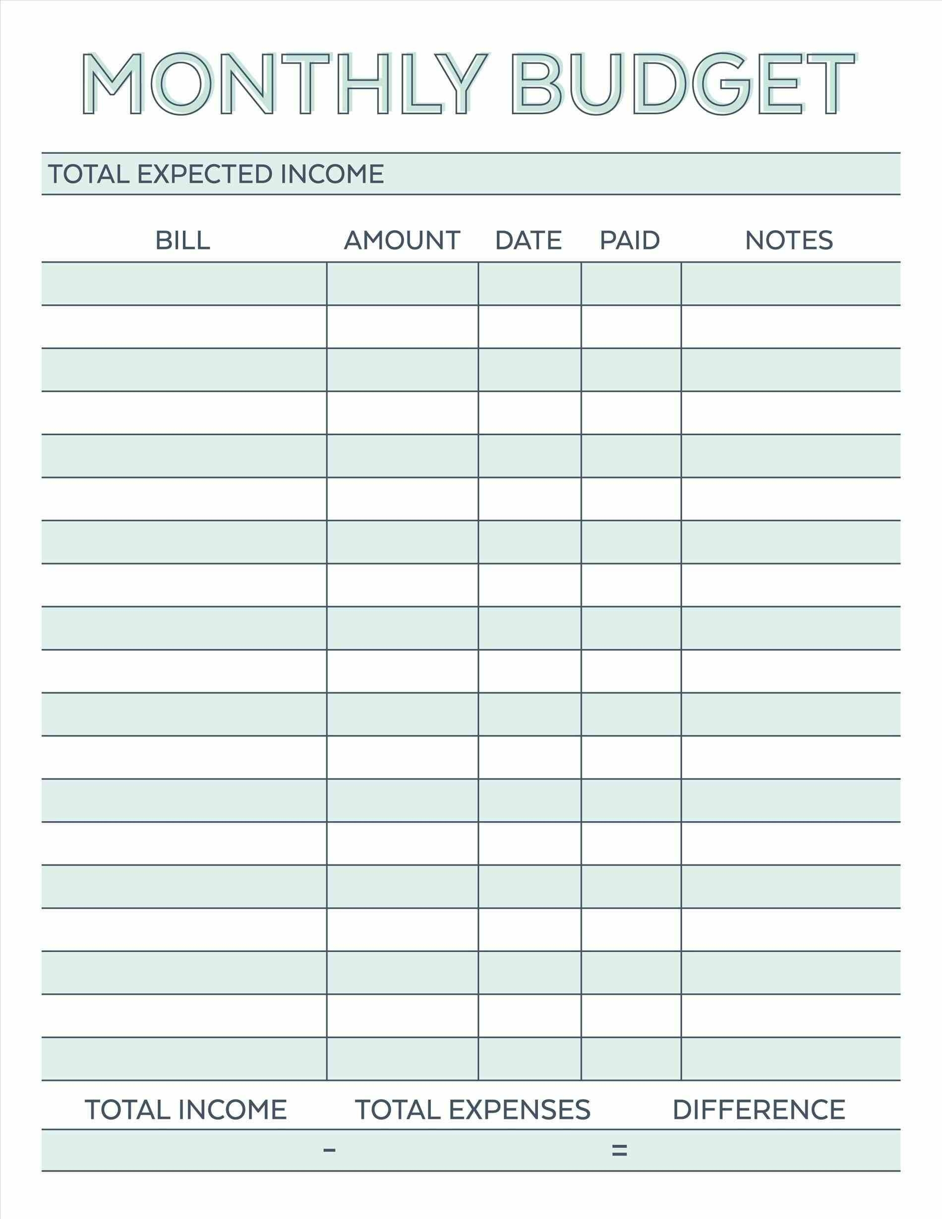 016 Template Ideas Budget Planner Worksheet Monthly Bills Free Bill intended for Templates Free To Pay Bills