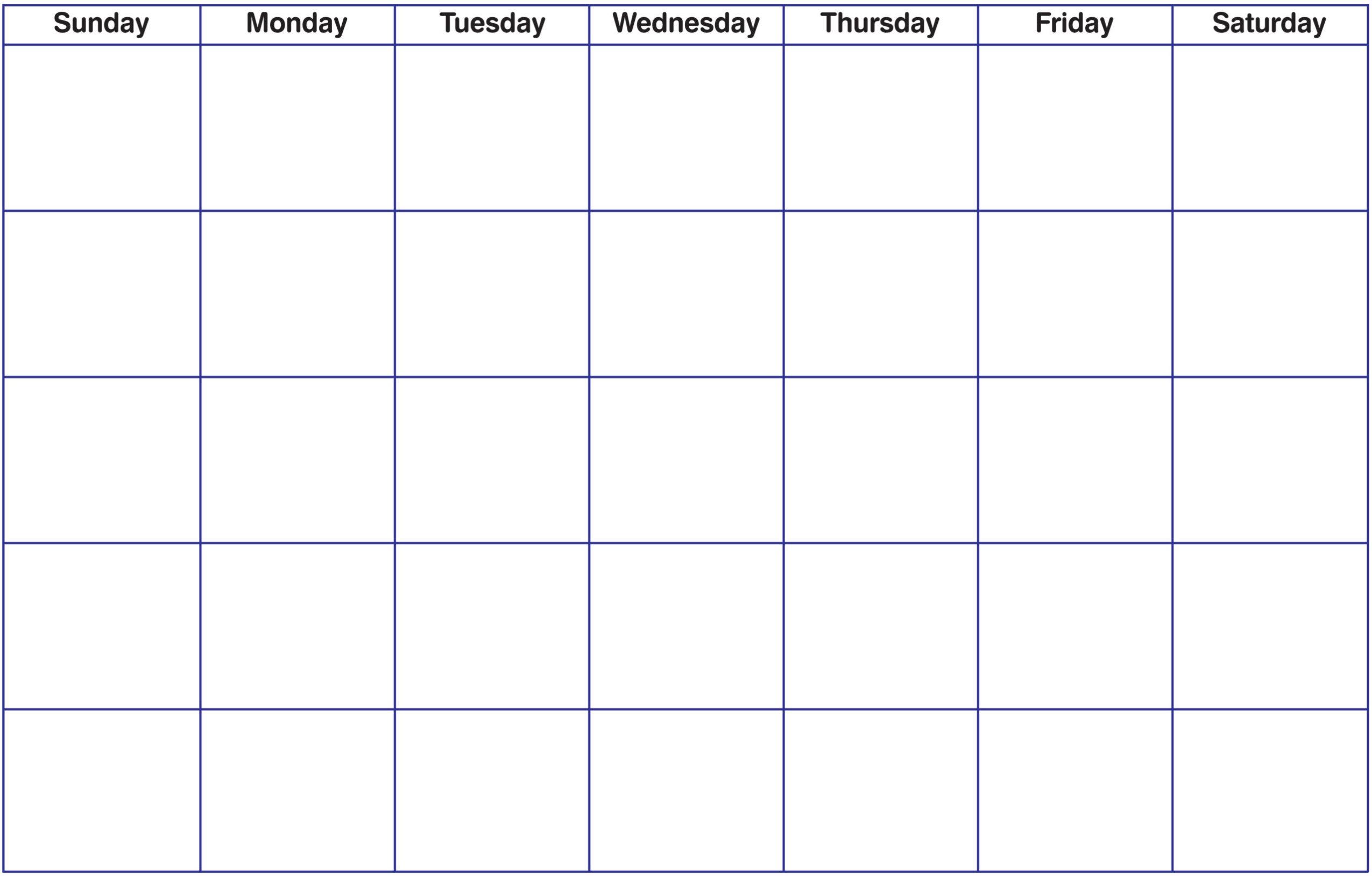 017 Blank Monthly Calendar Template Ideas Printable Pdf Unusual regarding Blank Fill In Calendar