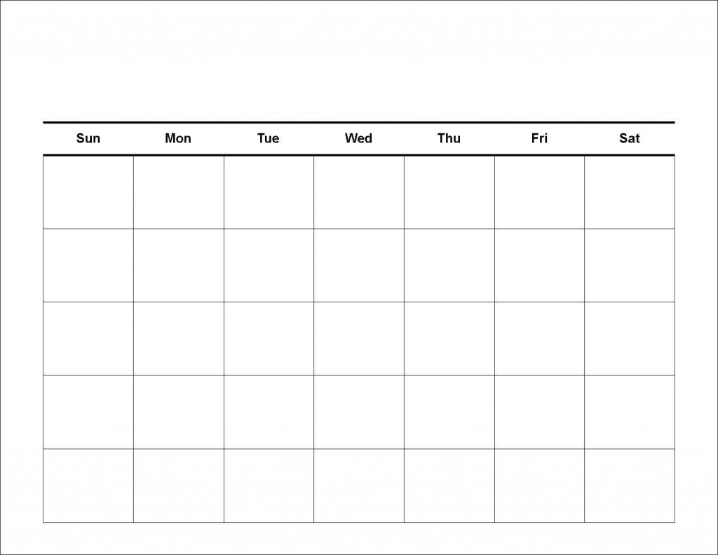 020 Free Blank Calendar Template Ideas 20Blank Weekly Schedule intended for Weekly Schedule With Blank Time Slots