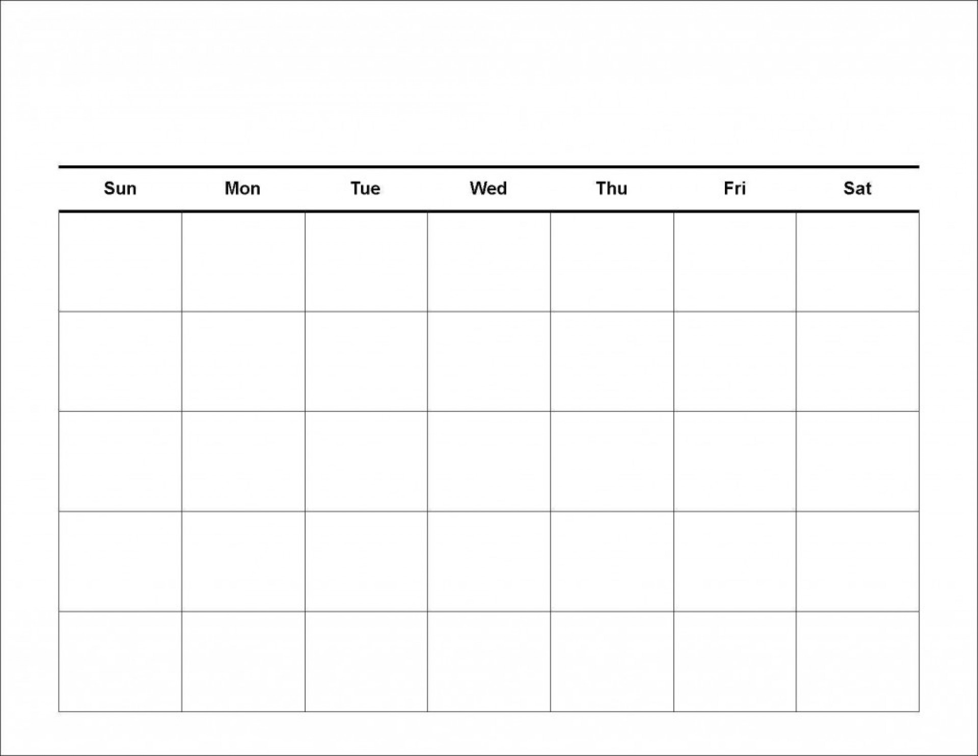 020 Free Blank Calendar Template Ideas 20Blank Weekly Schedule throughout 5 Day Week Blank Calendar With Time Slots Printable
