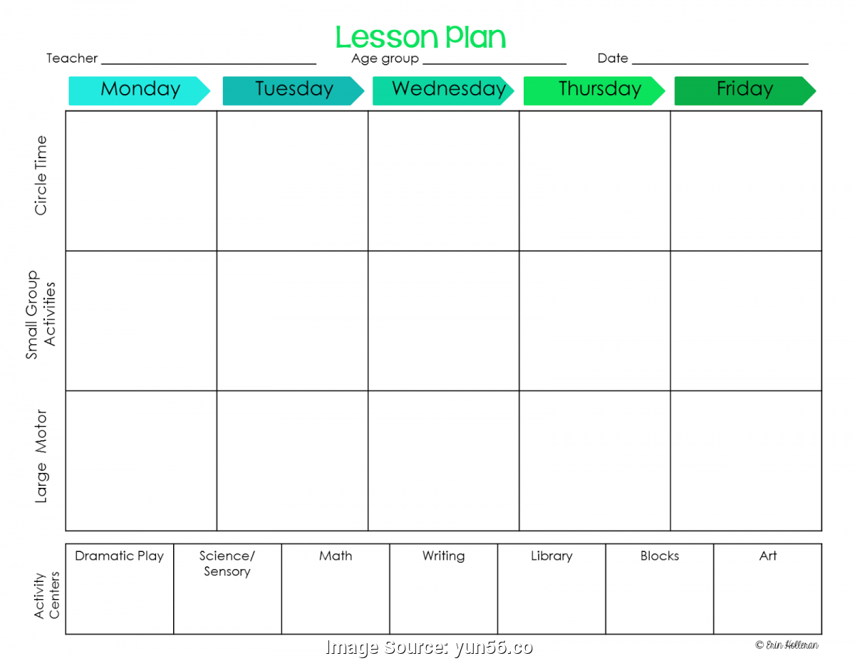 020 Infant Lesson Plan Template Ideas Simple Preschool Plans regarding Free Preschool Template For Schedule