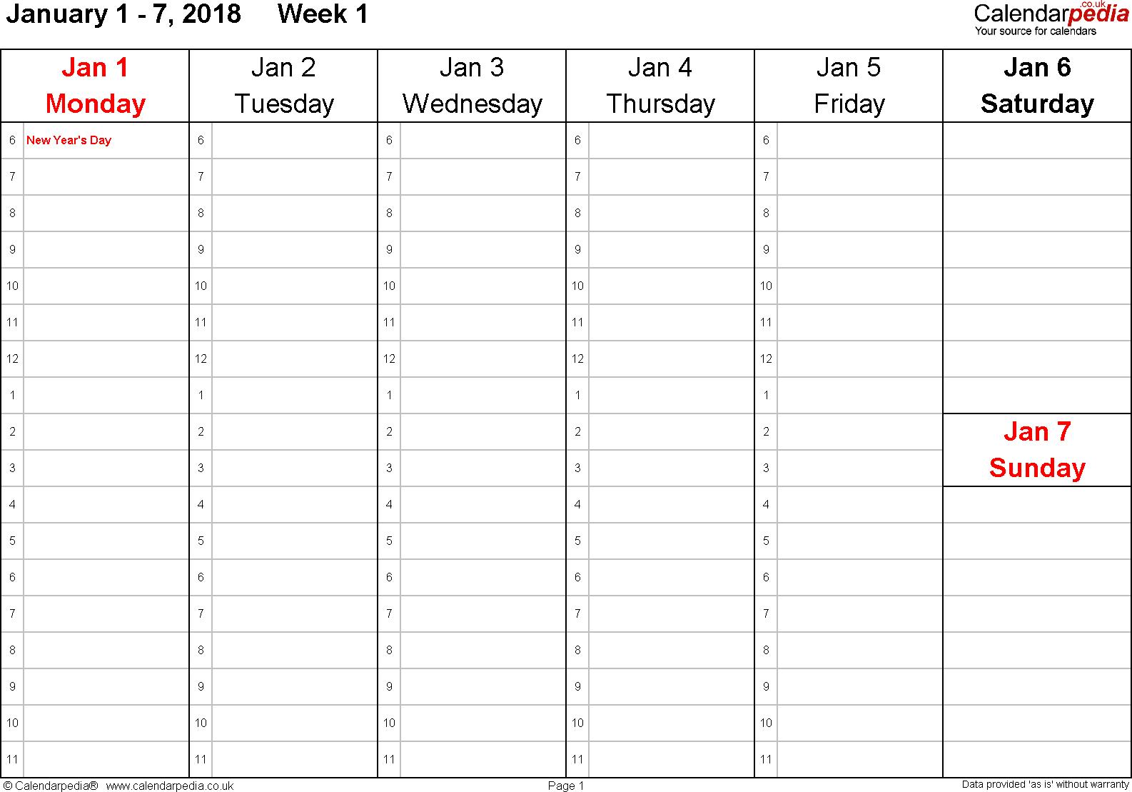 020 Meal Plan Calendar Template Ideas 20One Week Printable Design inside 1 Week Menu Calendar Template