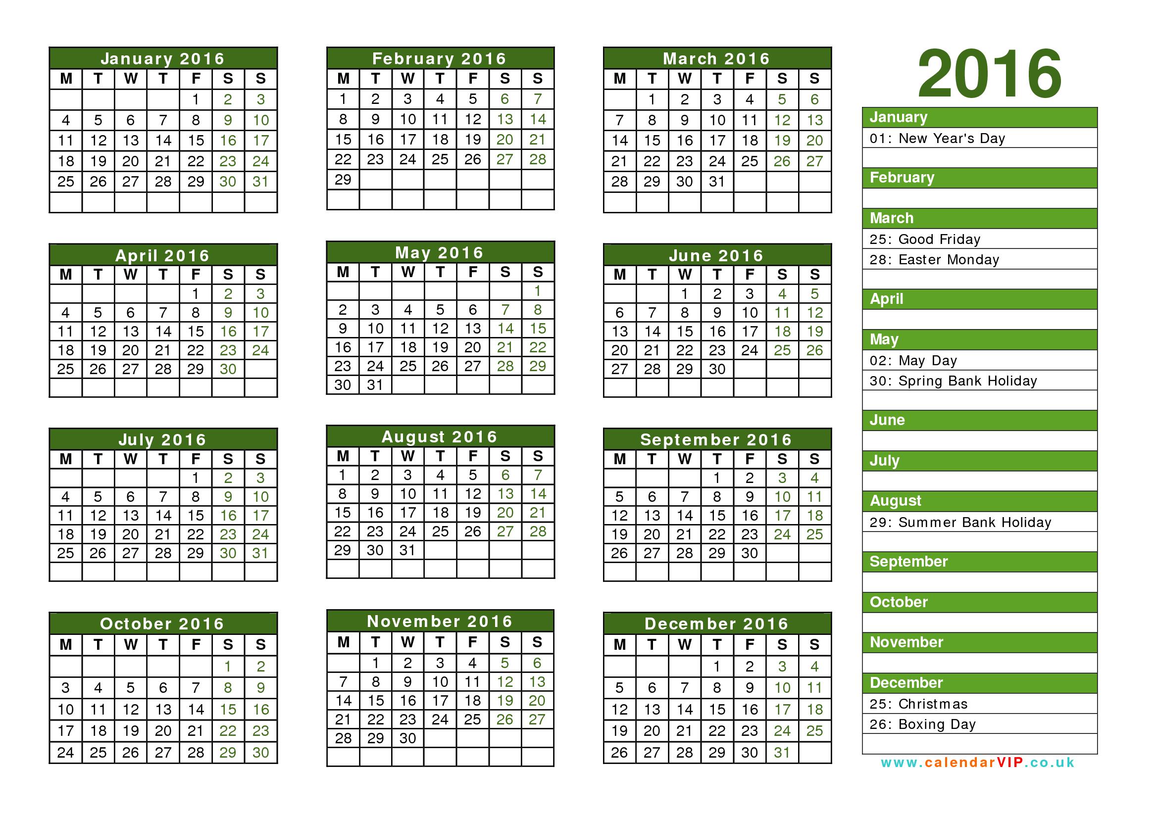 021 Yearly Calendar Template Striking 2016 Ideas Word Year in Free/fiscal Year Calendar Template