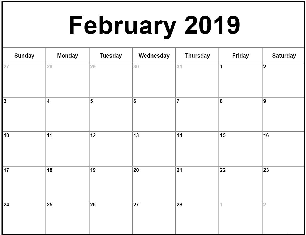 022 Free Printable Calendar Templates February Month Template pertaining to Free Printable Calendar Templates Month