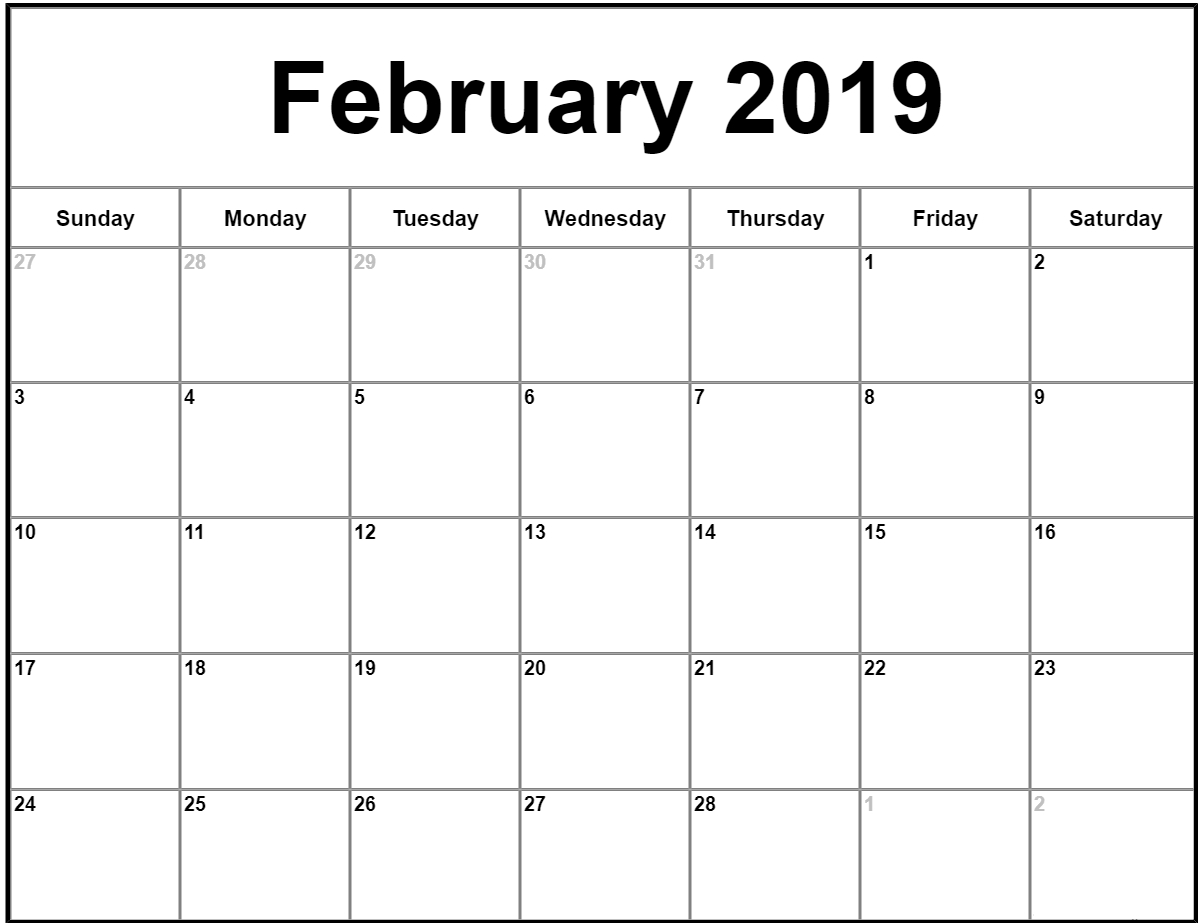 022 Free Printable Calendar Templates February Month Template regarding Printable Monthly Calendar Templates