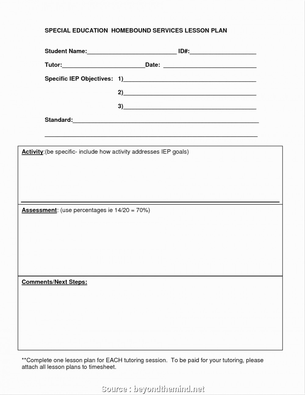 035 Plan Templates Tutor Lesson Template Examples High School for Tutoring Template To Fill Out Weekly