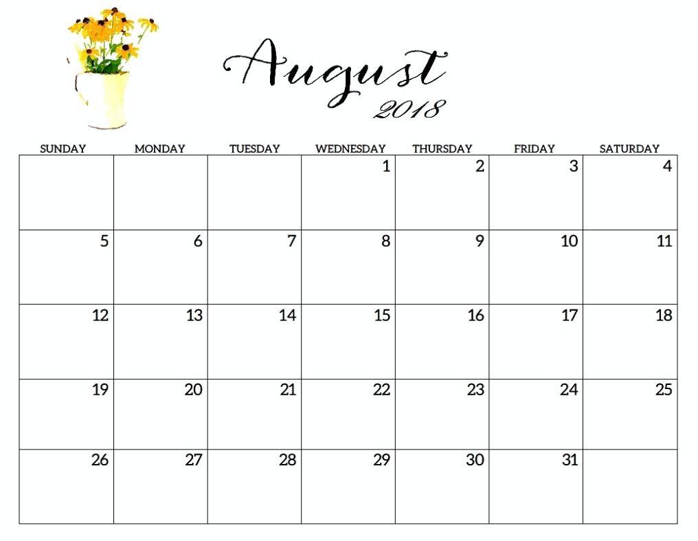 038 Printable Word August Calendar Outstanding 2018 Canada South for Printable Calendar Templates August Through December