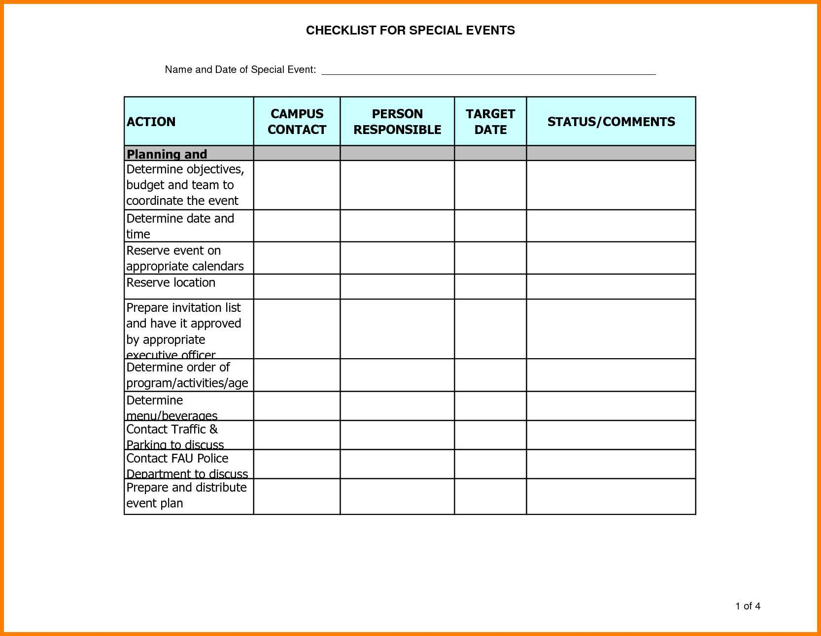 10+ Excel Template For Event Planning | Gospel Connoisseur with Event Guest List Template Excel