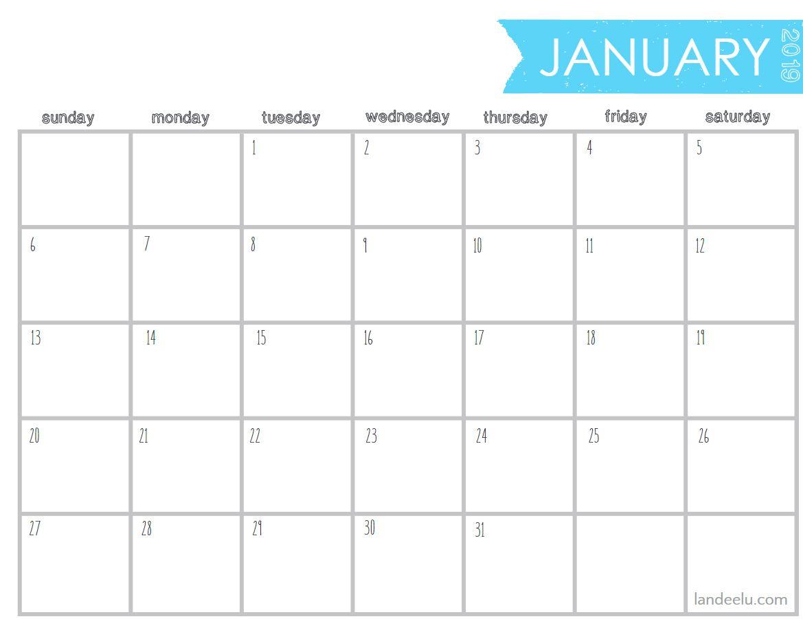 10 Stylish Free, Printable Calendars For 2019 regarding Free Printable Blank Advent Activities List Minimal
