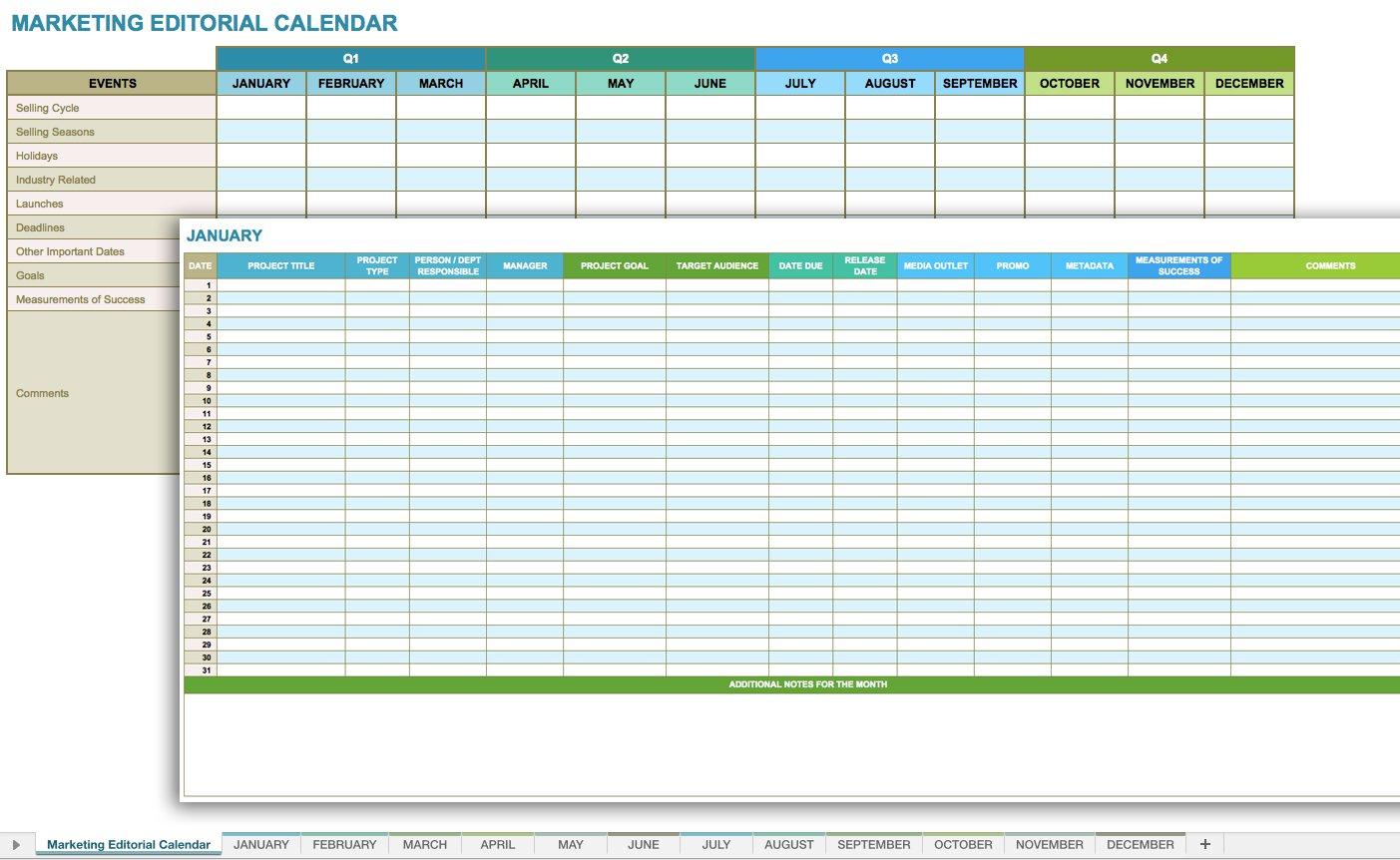 12 Free Social Media Templates | Smartsheet for Social Media Content Plan Excel Template Free