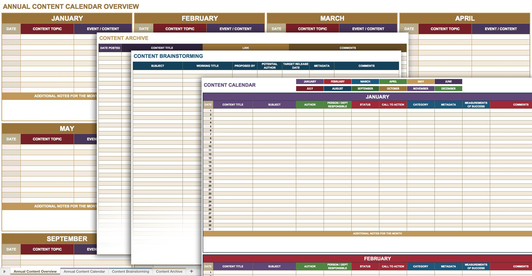 12 Free Social Media Templates | Smartsheet intended for Social Media Content Plan Excel Template Free
