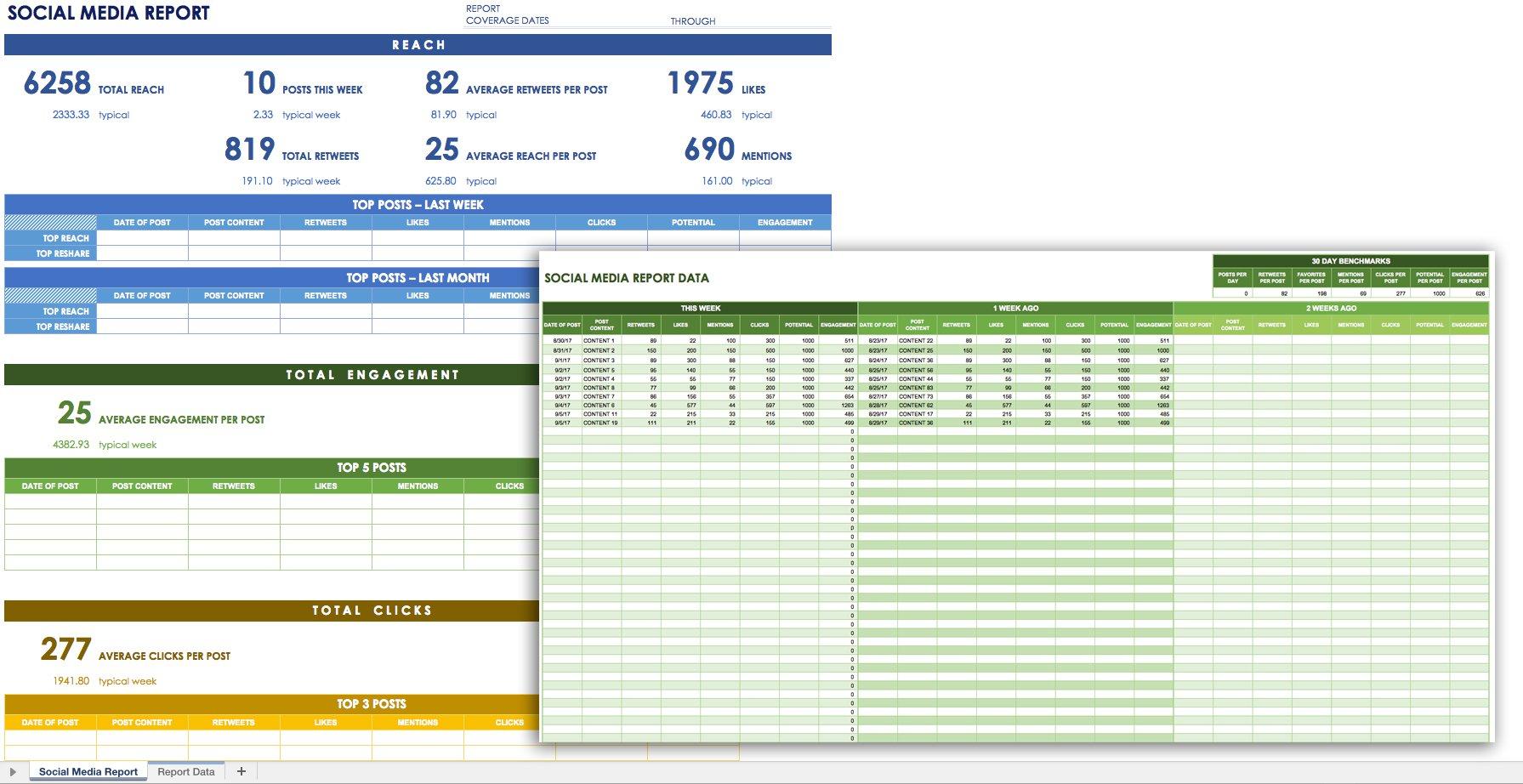 12 Free Social Media Templates | Smartsheet pertaining to Social Media Content Plan Excel Template Free