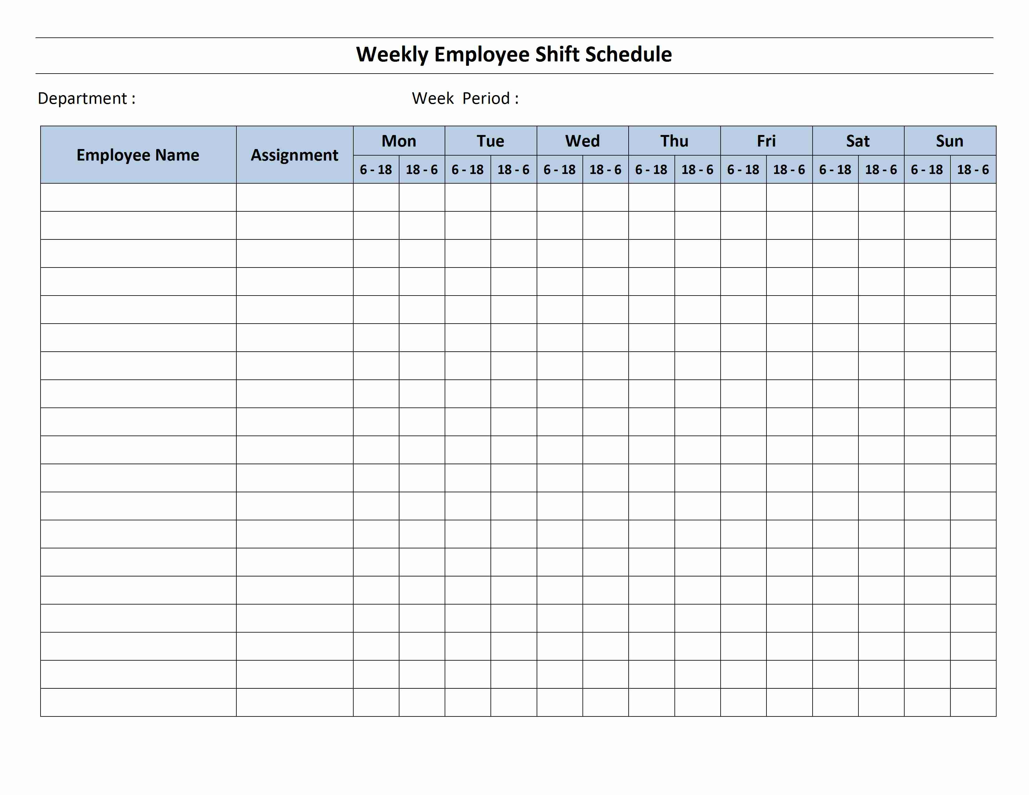 12 Hour Shift Schedule Template throughout 12 Hour Shift Schedule Template