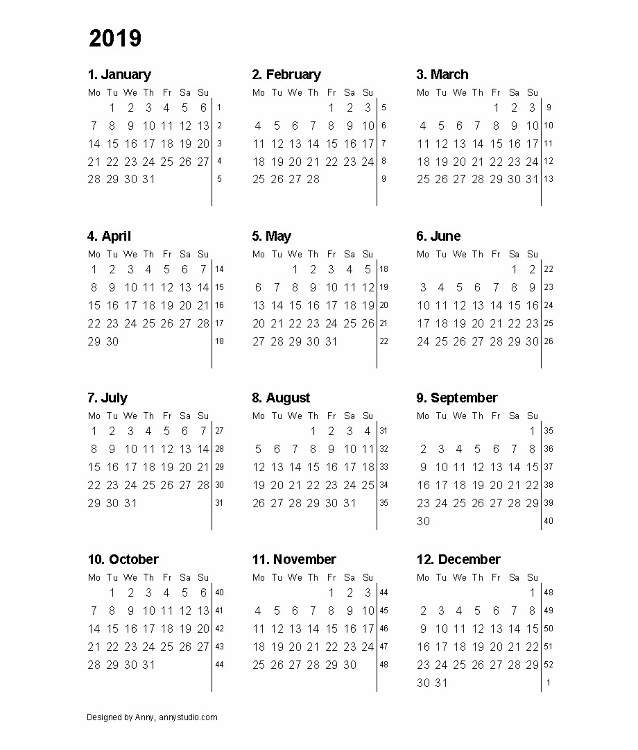 12 Month 2019 Calendar Printable Free Png Images & Clipart Download intended for 12 Month Calendar Template Clip Art Blank
