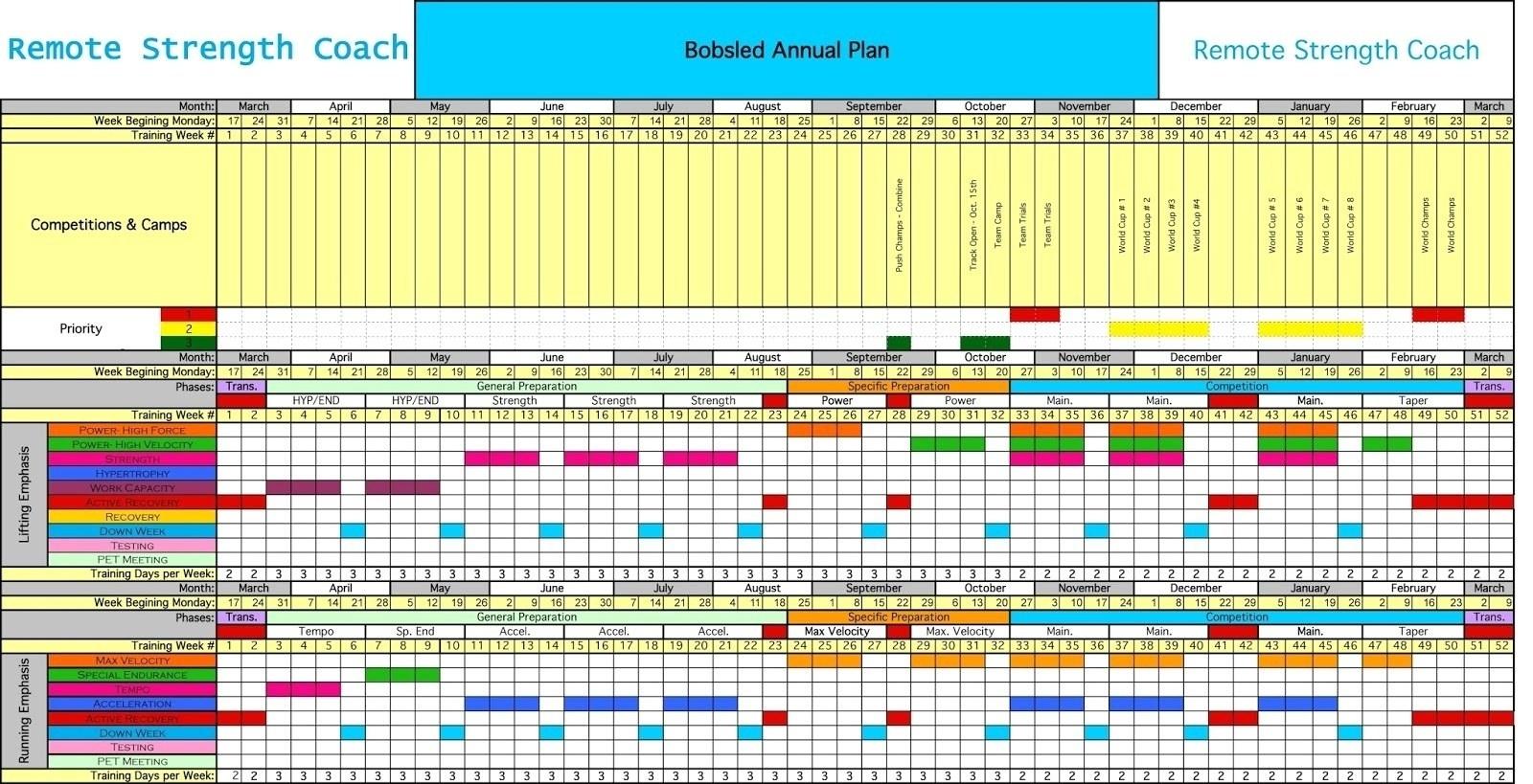 12 Month Training Calendar Template | Template Calendar Printable pertaining to 12 Month Training Calendar Template