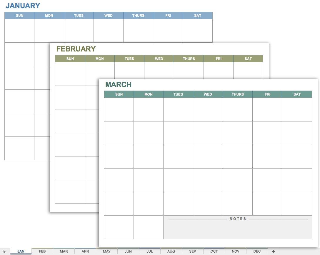 15 Free Monthly Calendar Templates   Smartsheet in Calendar Planner Template Excel December