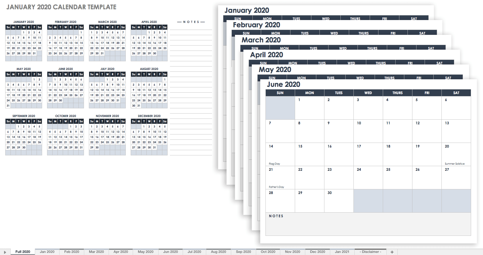 15 Free Monthly Calendar Templates | Smartsheet in Free Fillable Printable 2019 2020 Calendar