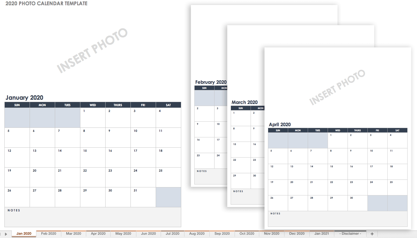 15 Free Monthly Calendar Templates | Smartsheet intended for Print Blank Workday Calendar For August