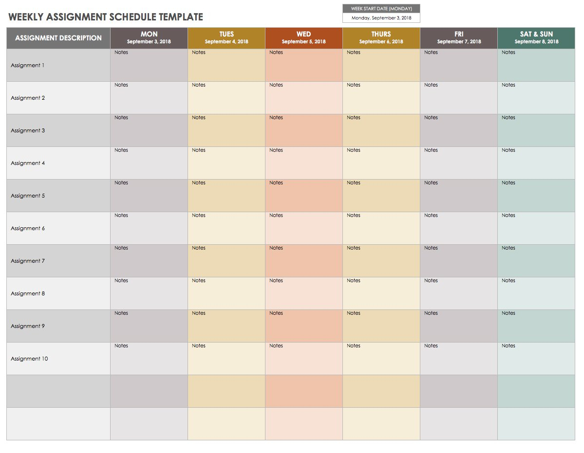 15 Free Weekly Calendar Templates | Smartsheet pertaining to Blank Printable Calendar M-F