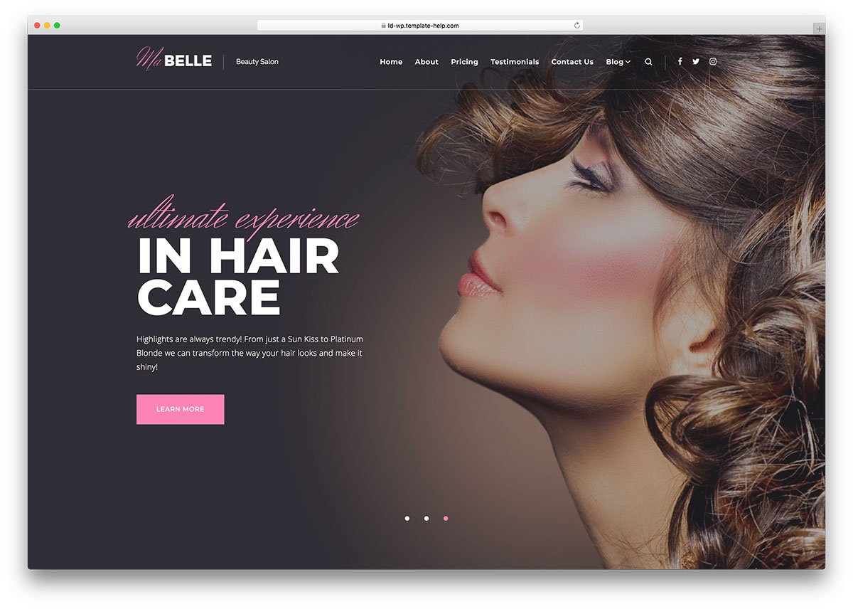 15 Mind-Blowing Beauty Services WordPress Themes 2018 - Colorlib for Hair Appointment Schedule Template