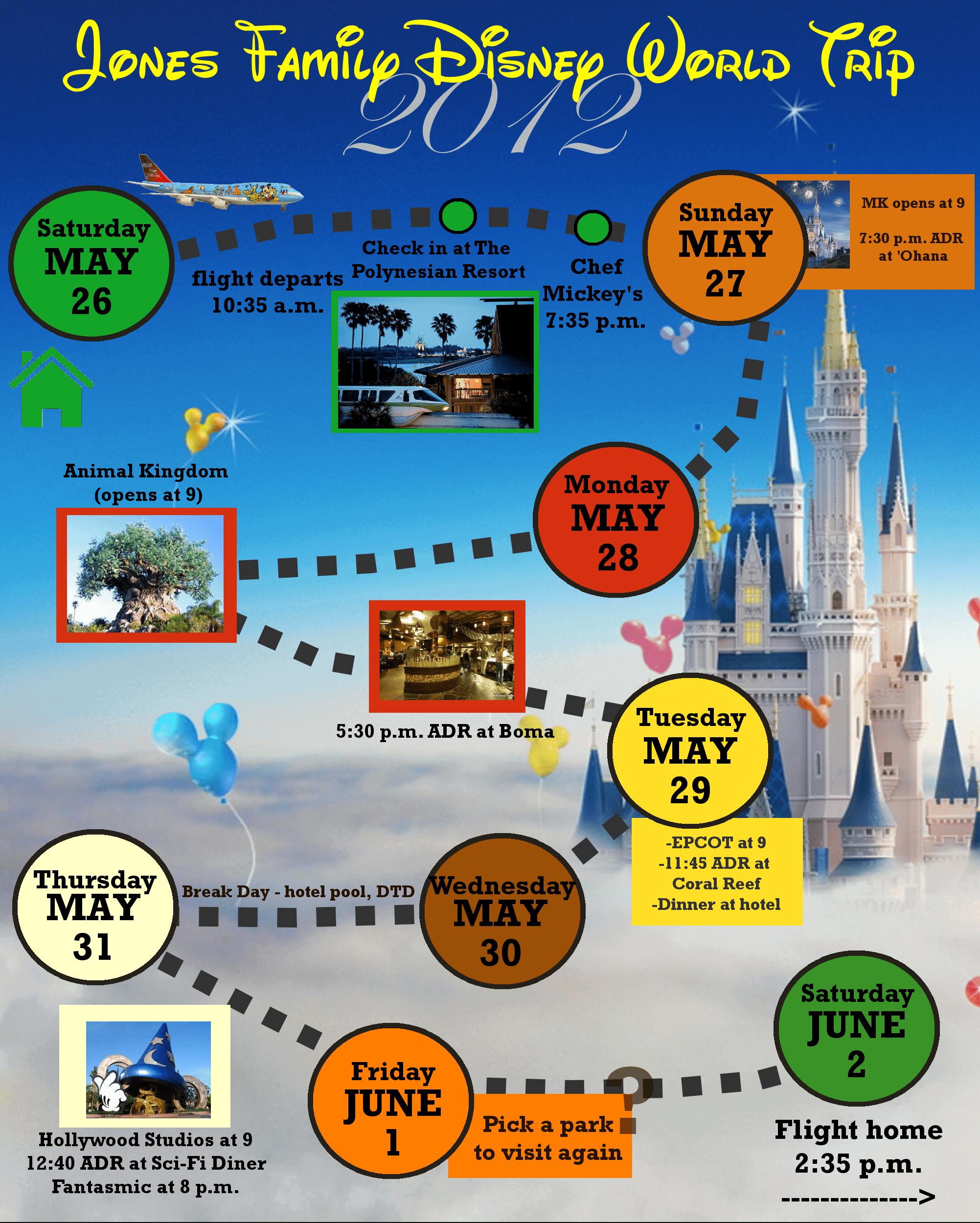 2 Custom Disney World Itinerary Templates | Wdw Prep School in Disney World Itinerary Template Blank