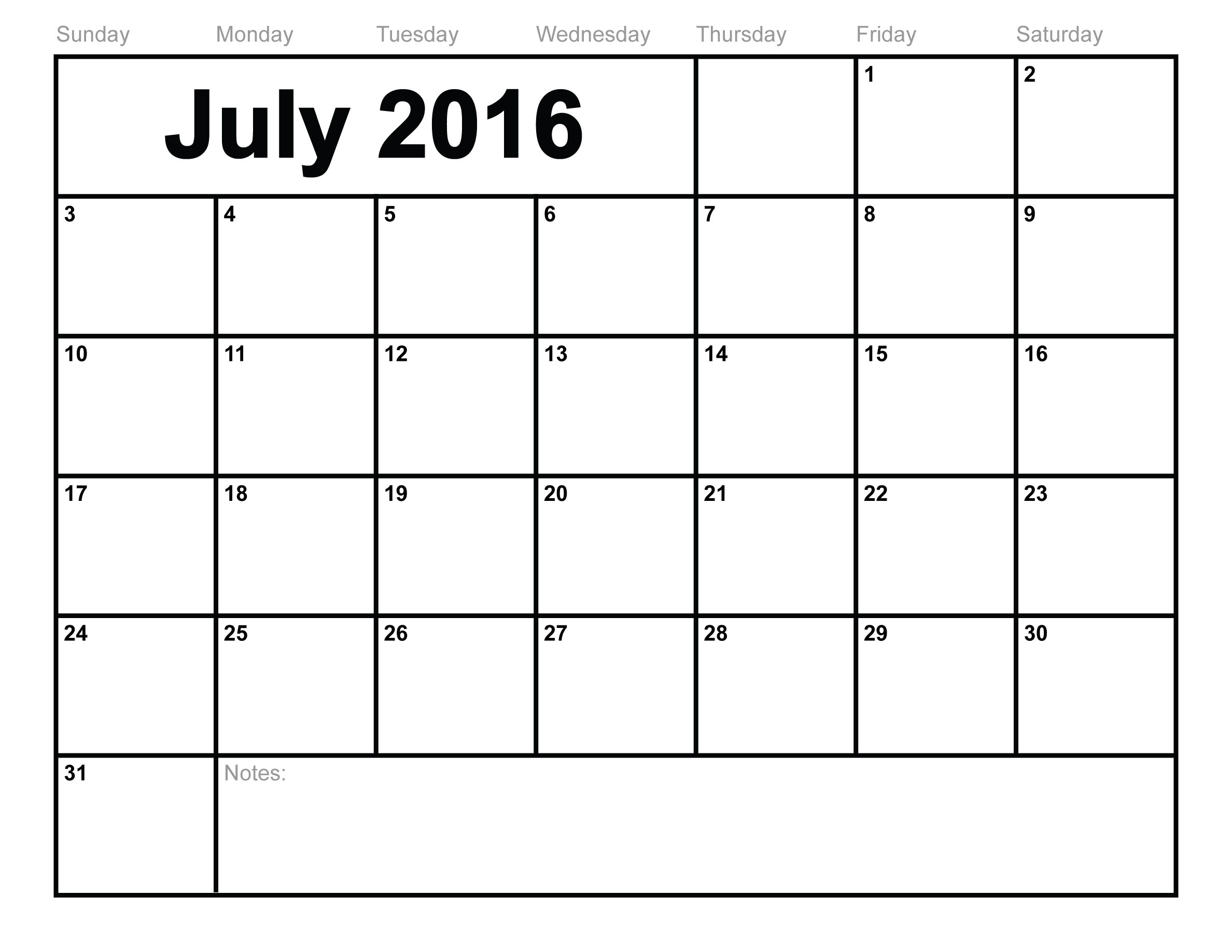 2016 Blank Printable Calendar | Hauck Mansion intended for Blank Printable Calendar Pages