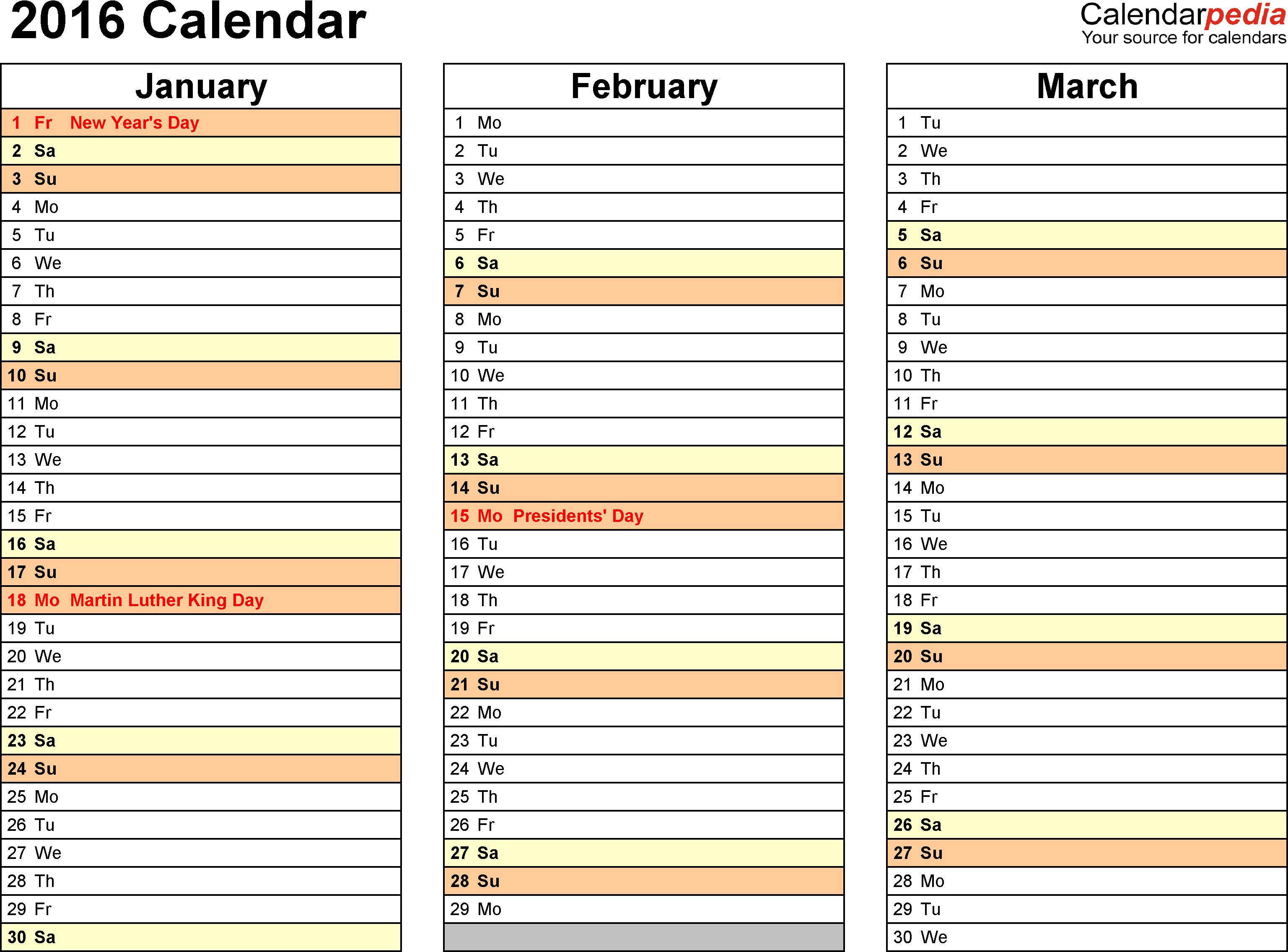2016 Calendar - Download 16 Free Printable Excel Templates (.xlsx) with Free Printable Event Calendar Template