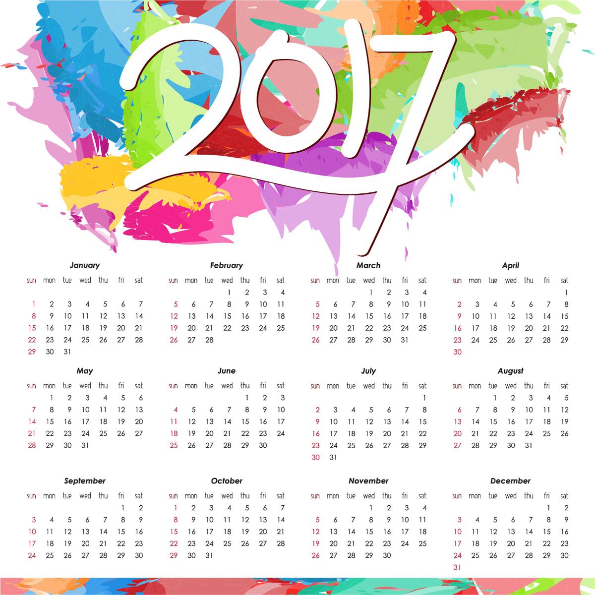 2017 Calendar Templates And Printable - Printable Monthly Calendar for Cute Yearly Calendar Template