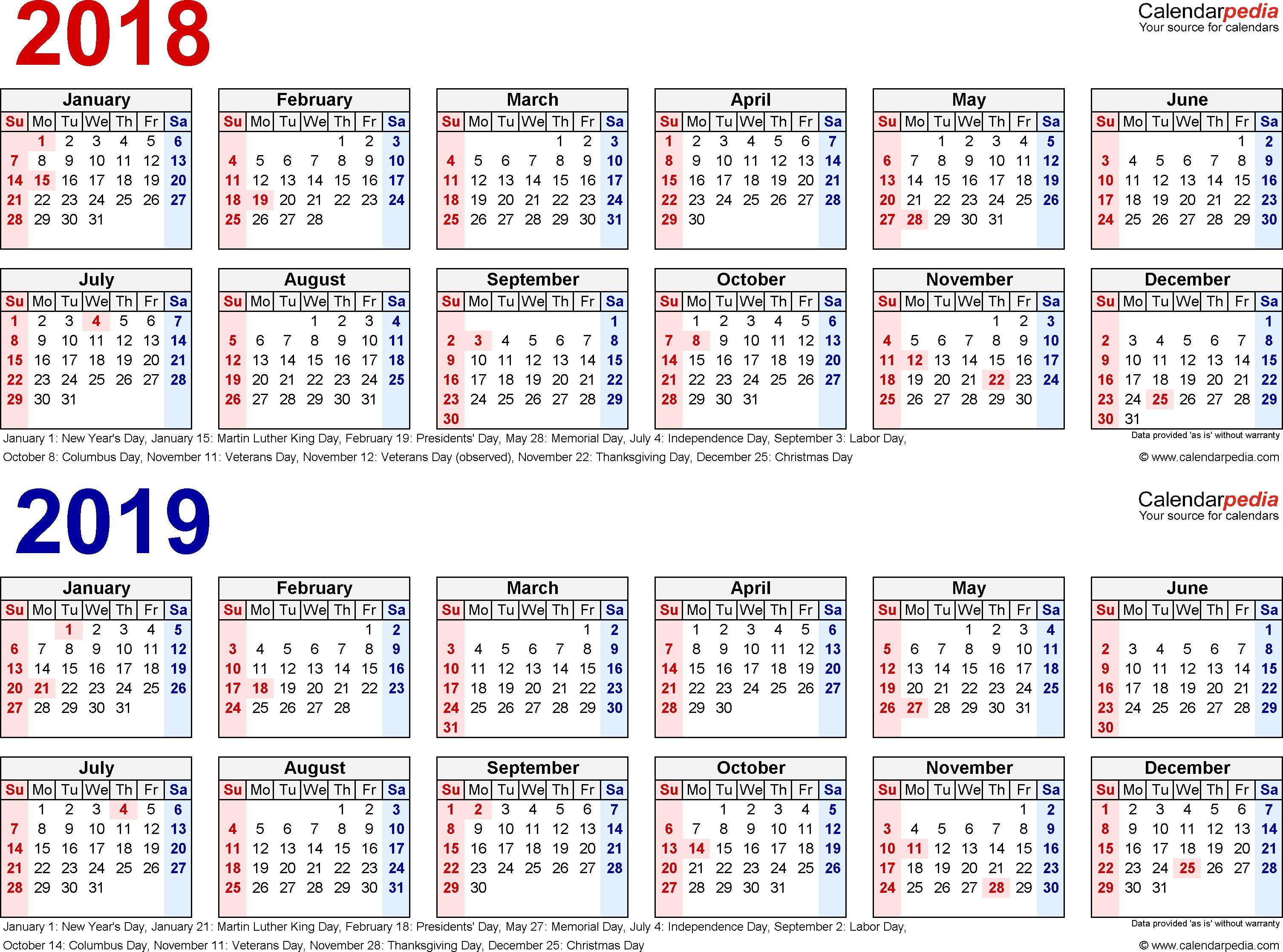 2018 2019 Calendar 3 Year 2017 To | Jcreview throughout 2019- 2020 Calendar Printable Uga