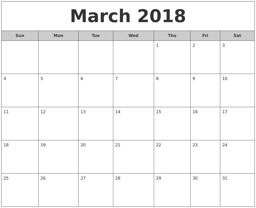 2018 Calendar Templates   Word, Excel & Pdf Templates   Templates inside Free Calendar Templates Printable