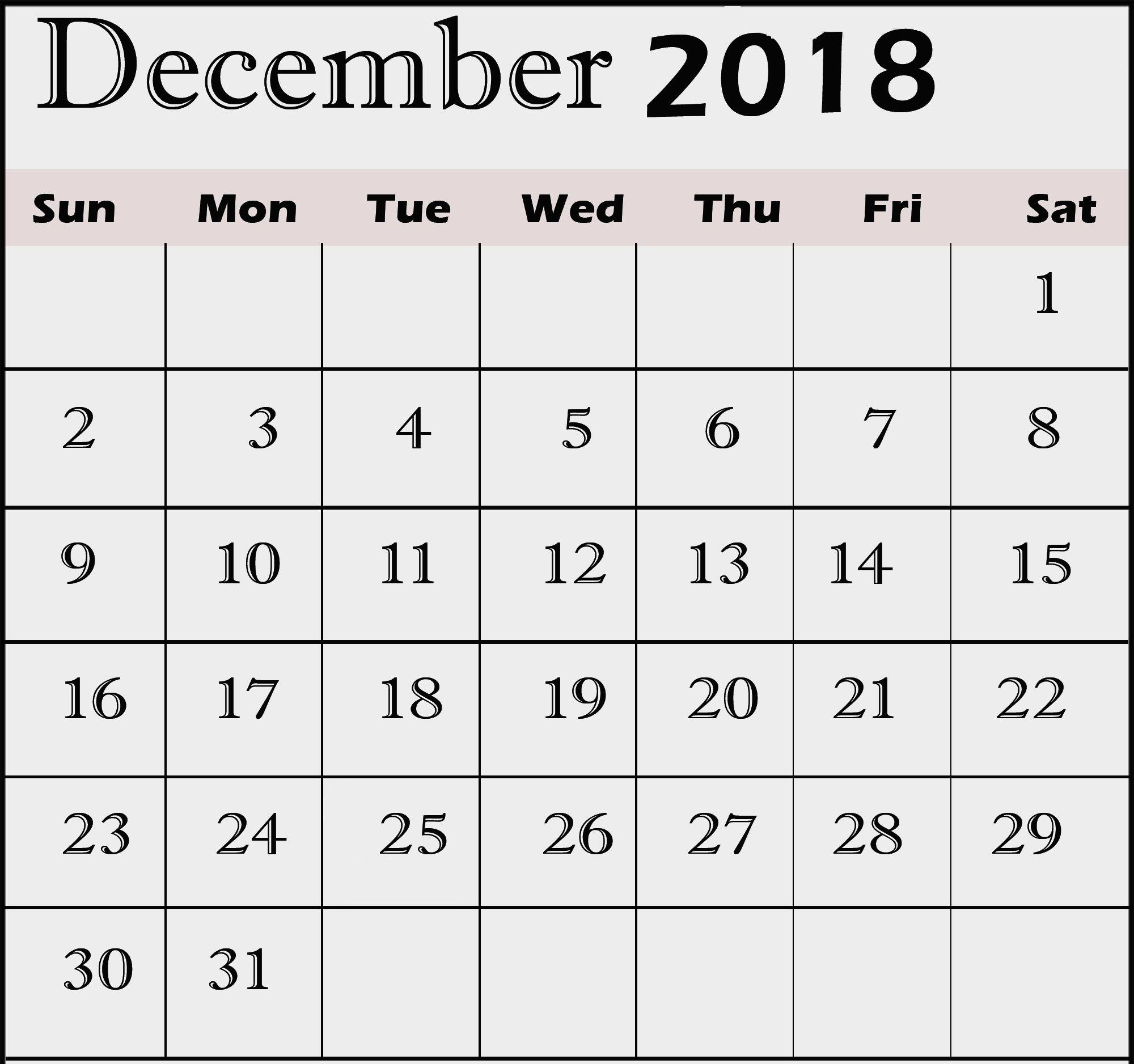 2018 December Calendar With Holidays | Calendar Format Example with regard to November Calendar For Quikcalendertemplate